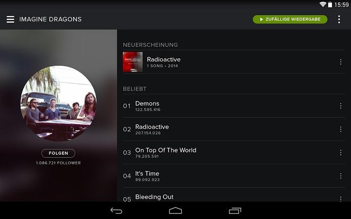 Spotify – Musik von Überall | Apps-Karussell